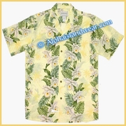 Hawaiian Rayon Shirt - 811Yellow
