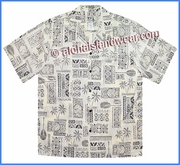 Tapa Designe Hawaiian Shirt - 510White