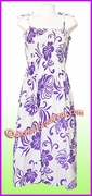 Mid Length Hawaiian Smock Dress - 486Purple
