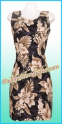 Hawaiian Tank Dress - 383Black