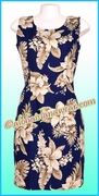 Hawaiian Tank Dress - 383Navy