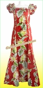 Classic Aloha Dress - 438Red