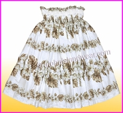 Hula Pa'u Skirt - 434White