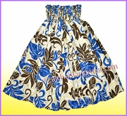 Hula Pa'u Skirt - 476Blue