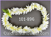 Kahili Ginger Single Lei - White/Green