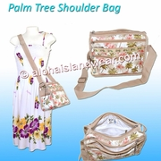 Ky's Palm Tree Nylon Cross-Body Shoulder Bag