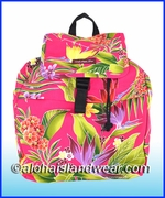 Large Hawaiian Backpack - 121Pink