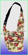 Large Hawaiian print Messenger Bag - 173Cream