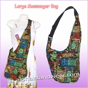 Large Hawaiian Print Messenger Bag - 702Mix