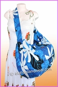 Large Hawaiian Print Travel/Gym Workout Carry-On Bag -281Blue