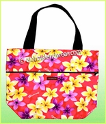Large Reversible Hawaiian Print Tote Bag - 903Pink