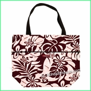 Large Reversible Hawaiian Print Tote Bag - 401Red