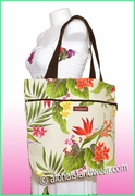 Medium Reversible Hawaiian Print Tote Bag