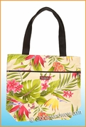 Medium Reversible Hawaiian Print Tote Bag - 123Cream