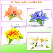 Lily Spray W/Blossom Hair Clip