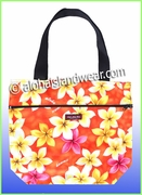 Medium Reversible Hawaiian print Tote Bag -303Orange