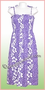 Mid-Length Hawaiian Smock Dress - 2130Purple