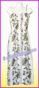 Mid-Length Hawaiian Smock Dress - 434White