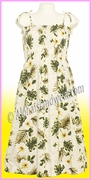 Mid Length Hawaiian Smock Dress - 449Natural