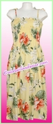 Mid-Length Hawaiian Smock Dress - 466Yellow