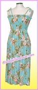 Mid Length Hawaiian Smock Dress - 824Aqua