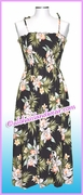 Mid Length Hawaiian Smock Dress - 824Black