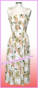Mid Length Hawaiian Smock Dress - 824White