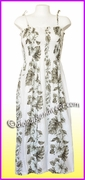 Full Length Hawaiian Smock Dress - 434White