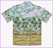 Palm Tree & Diamond Head Hawaiian Shirt