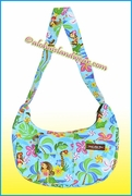 Hula Girl Print Banana Shaped Purse - 312Aqua