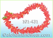 Plumeria Royal Single Lei - Red