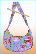 Hula Girls Print Banana Shaped Purse - 313Purple