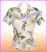Rayon Hawaiian Lady Blouse - 812Natural