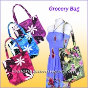 Reusable Hawaiian print Grocery Tote Bag