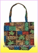 Reusable Hawaiian Print Grocery Tote Bag -702Mix