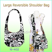 Reversible Cross-Body Shoulder Bag - 402Black/White