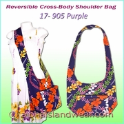 Reversible Cross Body Shoulder Bag - 905Purple