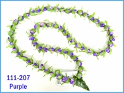 Rosebud Long Lei - Purple