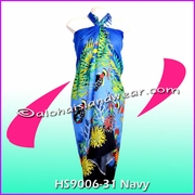 Ocean Reef  Hawaiian Sarong - Navy