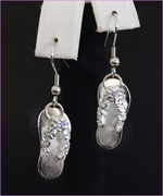 Solid Silver Slippers Earrings