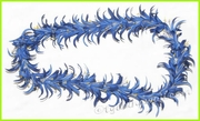Spider Lily Hawaiian Lei - Blue