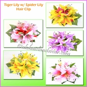 Tiger Lily W/Spider Lily Hair Clip