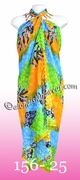 Tropical Floral Print Hawaiian Sarong - 25