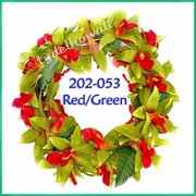 Vanda Orchid Headband - Red/Green