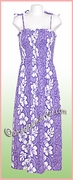 Full Length Hawaiian Smock Dress - 2130Purple