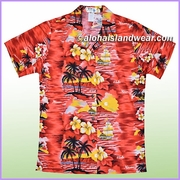 Women Hawaiian Shirt - 304Red