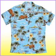 Women Hawaiian Shirt - 357Blue