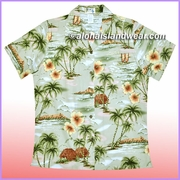 Women Hawaiian Shirt - 357Green