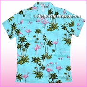 Women Hawaiian Shirt - 406Aqua