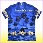 Women Hawaiian Shirt  - 428Navy